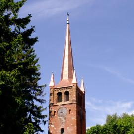 Wieża kościelna w Bruskowie Wielkim